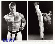 Dolph Lundgren barechested VINTAGE Photo Showdown In Little Tokyo