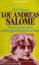 LOU Andreas SALOME - Das LEBEN une insolite FEMMES - H.F.PETERS (1964)