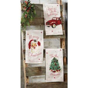 Mud Pie H9 Christmas Tree Farm Vintage Hand Towel 41500002 Choose