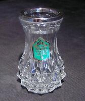 "WMF ""Diadem"" Vase Bleikristall + Silberrand, 70er Jahre, 11 cm hoch, NEU + OVP"