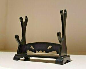 2-Tier Mini Kunai Samurai Sword Daggers Holder Mount Display Stand Rack Bracket