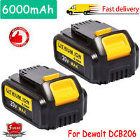 2PACK For DeWalt 20V 20 Volt Max XR 6.0AH Lithium Ion Battery DCB204-2 DCB206-2