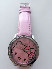 Women Lady Girl Pink Hello Kitty Synthetic Leather Wrist Watch Christmas Gift