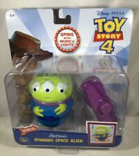 DISNEY PIXAR ELECTRONIC SPINNING SPACE ALIEN Toy Story 4 MUSIC & LIGHTS Spinner