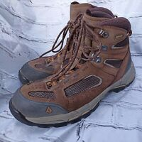 Vasque Gore-Tex 7482 Men's Vibram Hiking Boots Size 9.5 wide Brown Leather