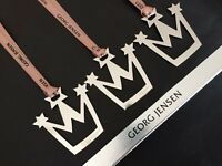 GEORG JENSEN CROWN (3) Christmas Decorations SILVER Limited Edition NEW