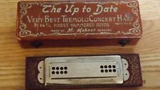 Antique M. Hohner Germany Very Best Tremolo Concert Harp Harmonica in Case