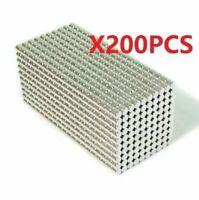 200pcs 3X3 mm Neodymium Disc Super Strong Rare Earth N50 Small Fridge Magnets