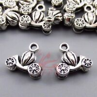 Cinderella Carriage Charms 13mm Antiqued Silver Plated Pendants - 10/20/40PCs