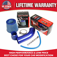 "Cold Air Intake System CAI Filter Assembly 3"" Blue Pipe + Clamp + Accessories"