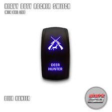 BLUE Laser Etch LED Rocker Switch 5 PIN Dual Light 20A 12V ON OFF - DEER HUNTER