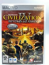 SID MEIERS CIVILIZATION IV dvd gameBEYOND THE SWORD EXPANSION Pack FOR Mac