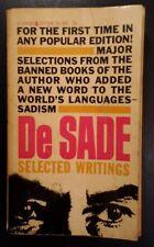 VTG 1953 SELECTED WRITINGS OF DE SADE Marquis De Sade 1st Ed. 1st Print PB VHTF