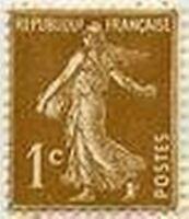 "FRANCE STAMP TIMBRE N° 277B "" TYPE SEMEUSE FOND PLEIN, 1 C"" NEUF xxTTB"