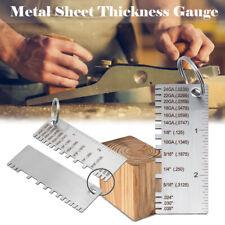 Sheet Metal Gauge Thickness Gage Measuring Tool Wire Gauge Stainless Steel Us