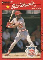 FREE SHIPPING-MINT-1990 DONRUSS #695 Eric Davis CINCINNATI REDS ALL-STAR
