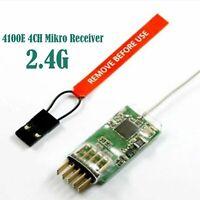 4100E 2.4G 4CH Mikro Receiver Empfänger für JR SPEKTRUM DX7 DX8 DSX7 DSX9
