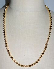 VTG PREMIER DESIGNS Gold Tone Round Circle Bead Beaded Choker Necklace