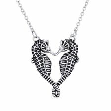 Fashion Stainless Steel Cool Sea Horse Silver Pendant Necklace Women/Men Jewelry