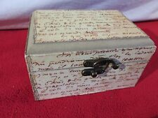 Mini Treasure Chest Small Trunk Box Vintage Writing Style Jewelry Watch Storage
