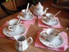 Child's Tea Set Floral Creamer,Cups, Saucers & Teapot