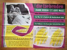 Liebenden (A0-Kinoplakat '59) - Jeanne Moreau / Jean-Marc Bory / Louis Malle