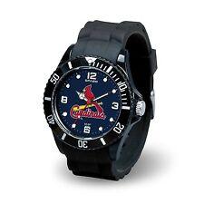 St Louis Cardinals MLB Baseball Team Men's Black Sparo Spirit Watch