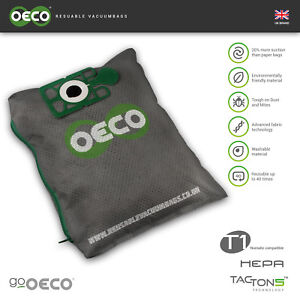 Truvox Vtve re-usable washable vacuum dust bags