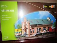 Faller N 222134 Bausatz Güterhalle neu in OVP,M 1:160,
