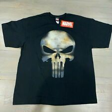 Marvel The Punisher No Sweat Grunge Black Short Sleeve T-Shirt Men's Size M New