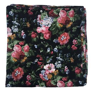 Gorgeous Ralph Lauren Cosette Isadora FULL / QUEEN DUVET COVER Black Floral Tag