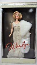 MATTEL MARILYN MONROE Timeless Treasures Barbie doll Nuovo di zecca in box indossato danni