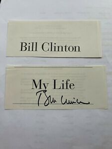 """President Bill Clinton signed autograph from """"My Life"""" book"""