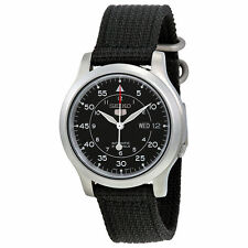 HOT! NEW Seiko Men's SNK809 Seiko 5 Automatic Watch Date Black Canvas Strap Gift