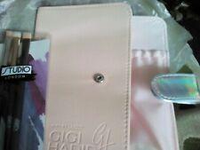 GIGI HADID X MAYBELLINE HOLOGRAPHIC PINK MAKEUP ORGANISER BRUSH BAG+Eye Brushes