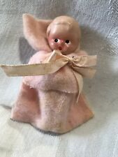 Vintage Bisque Baby Doll in Gauze Blanket Painted Face Sweet (43)
