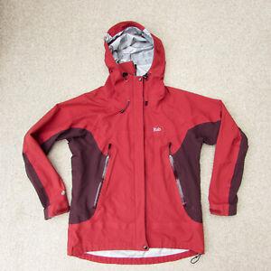 Rab Women's Vidda Mountain Event Waterproof Jacket Size 14 / L Red Hiking