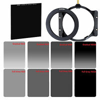 ZOMEI 82mm Ring+Holder+4x6in GND&ND2,ND4,ND8,ND16 Filter Kit+4x4in Glass ND1000