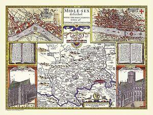 Middlesex 1611 John Speed Piece Jigsaw Puzzle (jg)