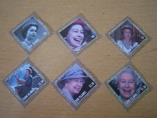 COOK ISLANDS,COMPLETE SET OF 6 VAL.U/M,2012 QE11 DIAMOND JUBILEE ISSUES,CAT £12