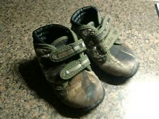 Baby Boys Shoes Toddler Size 6 Brown & Green Camoflage Sneakers Athletic Kids