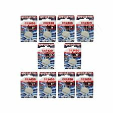 10 Maxell CR2430 Batteries Lithium-Based Battery 3V Button/Coin Cell CR 2430
