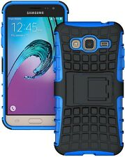 BLUE GRENADE GRIP TPU SKIN HARD CASE COVER STAND FOR SAMSUNG GALAXY J3