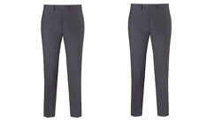 Kin by John Lewis Sutton Lux Mohair Slim Fit Navy Trousers Size 32L RRP £60 BNWT
