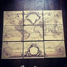 World Map Print : Guillaume de L'Isle 'Mappe Monde' large world map 1720 print