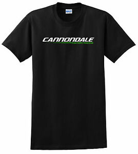 CANNONDALE BICYCLE SHIRT MOUNTAIN BIKE MTB RACE ROAD CYCLING LIME BLACK FACTORY