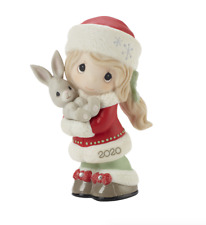 New ListingPrecious Moments Christmas Annual Girl Figure Dated 2020 201001 With Bunny