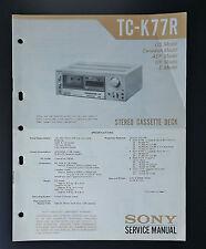 Sony tc-k77r Original Service-Manual/Servizio-Istruzioni/schema elettrico