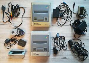 Super Nintendo und Super Famicom Konsolen mit Zubehörpaket - SNES SFC - PAL NTSC