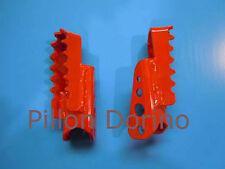 Coppia pedane verniciate Pair painted footpegs KTM serie 1980